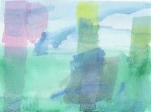 蓝绿色被弄脏的传染媒介背景 免版税库存照片