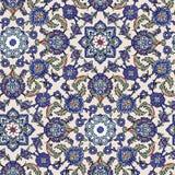 蓝绿色组合图案装饰品 免版税库存图片