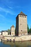 蓬兹Couverts塔,史特拉斯堡,法国 免版税库存图片