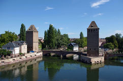蓬兹Couverts塔 法国史特拉斯堡 库存照片