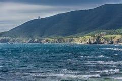 蓬塔卡尔内罗海岸,卡迪士,西班牙 免版税库存图片