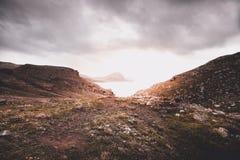 蓬塔圣洛伦索,马德拉岛岩石  库存照片