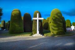 蓬塔阿雷纳斯,智利- 2013年6月14日-蓬塔阿雷纳斯,智利公开公墓的著名建筑学  免版税库存图片