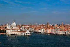 蓬塔della dogana da毁损,威尼斯,意大利 图库摄影