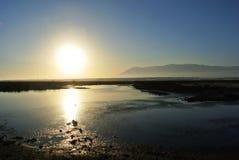 蓬塔Entinas-Sabinar自然地区和储备 库存照片