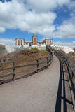 蓬塔La Entellada,在东费埃特文图拉岛的蓬塔Lantailla灯塔 免版税图库摄影