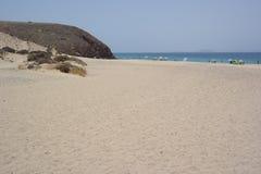 蓬塔papagayo海滩,兰萨罗特岛, canarias海岛 免版税库存图片