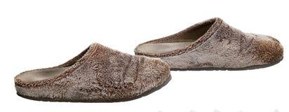 蓬松拖鞋 免版税库存图片