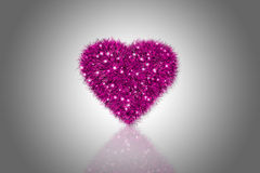 蓬松桃红色心脏 库存图片