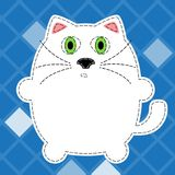 蓬松猫例证 免版税库存照片