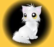 蓬松白色猫的例证 免版税图库摄影