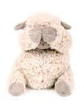 蓬松白色玩具绵羊 免版税图库摄影