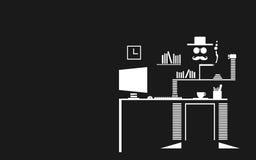 蓬松的大胡子现代艺术供以人员办公室,工作场所和 免版税库存照片