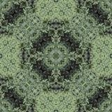 蓬松金钟柏绿色针背景,剪贴薄的背景,顶视图 无缝的样式万花筒蒙太奇 免版税图库摄影