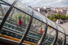 蓬皮杜文化艺术中心在巴黎,法国 免版税库存图片