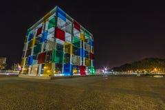 蓬皮杜文化艺术中心,马拉加 免版税库存照片