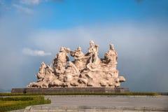 蓬莱市,山东,蓬莱八仙塑料基地 免版税库存照片