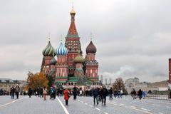 蓬蒿大教堂莫斯科俄国s圣徒 免版税库存图片