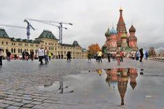 蓬蒿大教堂莫斯科俄国s圣徒 免版税库存照片