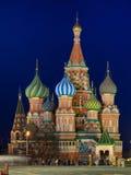 蓬蒿大教堂莫斯科红色俄国圣徒正方形 免版税库存照片