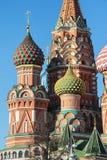 蓬蒿大教堂莫斯科红色俄国圣徒正方形 免版税图库摄影