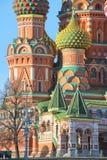 蓬蒿大教堂莫斯科红色俄国圣徒正方形 库存图片