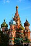 蓬蒿大教堂莫斯科红色俄国圣徒正方形 免版税库存图片
