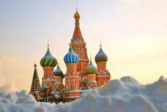 蓬蒿大教堂莫斯科红色俄国方形st 联合国科教文组织世界他 库存图片