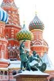 蓬蒿大教堂莫斯科红色俄国方形st 联合国科教文组织世界他 图库摄影