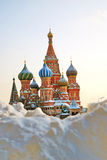 蓬蒿大教堂莫斯科红色俄国方形st 联合国科教文组织世界他 库存照片
