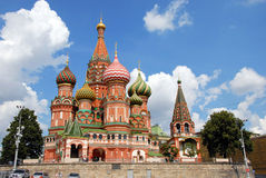蓬蒿大教堂莫斯科s st 免版税图库摄影