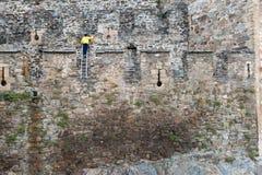 蓬费拉达城堡 免版税图库摄影