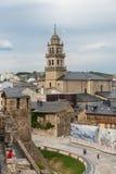 蓬费拉达市视图 免版税库存图片