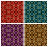 蔓藤花纹几何样式 免版税库存图片