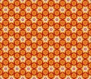 蔓藤花纹星六角形样式 库存图片