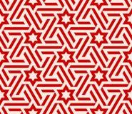 蔓藤花纹模式星形 库存例证