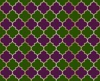 蔓藤花纹清真寺传染媒介无缝的样式 灯笼伊斯兰教的织品栅格设计塑造瓦片 库存例证