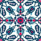 蔓藤花纹葡萄酒装饰华丽无缝设计模板vect的 免版税库存照片