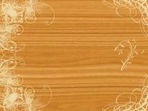 蔓藤花纹设计木头 免版税库存照片