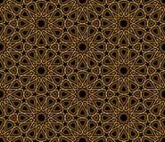 蔓藤花纹黑色&金样式 库存图片