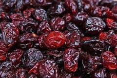 蔓越桔葡萄干 作为背景的红色整个干葡萄干 红色蔓越桔mullberry葡萄干特写镜头纹理 库存图片