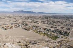 蔓延的沙漠发展 免版税库存照片