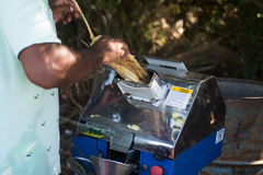 蔗汁机器 库存照片