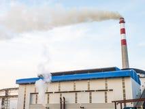 蔗渣饲养者能源厂在泰国 库存照片
