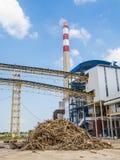 蔗渣饲养者能源厂 免版税库存照片