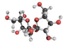 蔗糖化学结构  皇族释放例证