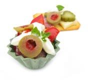 蔬菜和奶油开胃菜 库存图片