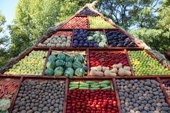 蔬菜和水果-秋天收获 免版税库存图片