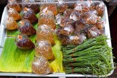 蔬菜和海鲜调味料 图库摄影