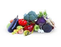 蔬菜和评定磁带 免版税库存照片
